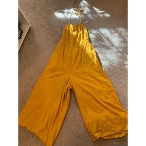 Yellow backless jumpsuit from American Eagle